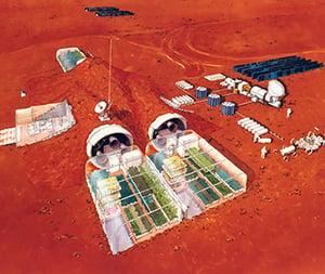 Buitenaards octrooi voor kolononies op Mars