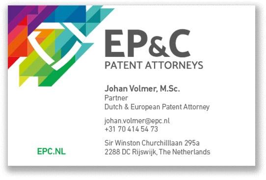 EP_C Visitekaartjes 2018 - Johan Volmer