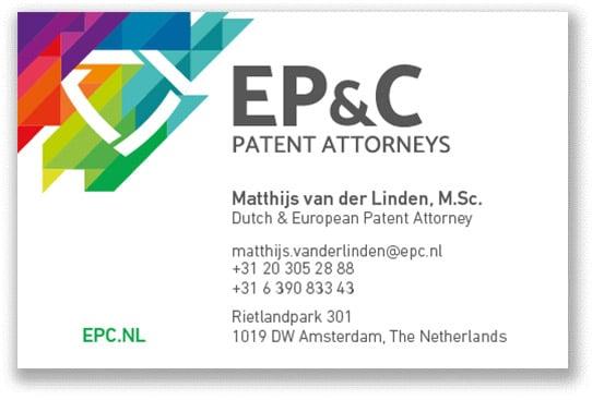 EP_C Visitekaartjes 2018 - Matthijs van der Linden